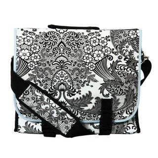 Flee Bags Black Toile Oil Cloth Messenger Bag