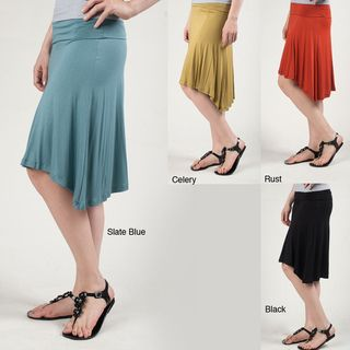 Tabeez Womens Fold over High low Skirt