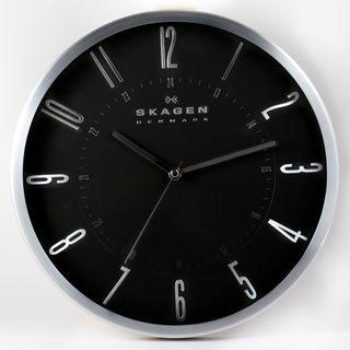 Skagen Stainless Steel 12 inch Wall Clock