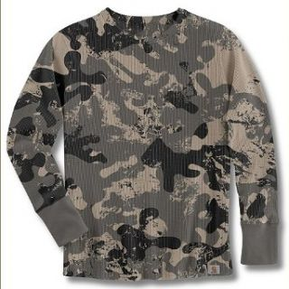 Carhartt Womens Camo Waffle T Shirt WK054 Clothing