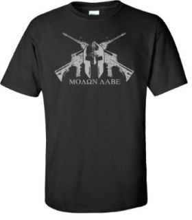 Black Helmet MOLON LABE T shirt: Clothing