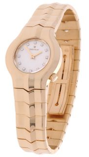 Tag Heuer Womens Alter Ego Mini 18 kt. Gold Diamond Watch