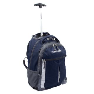Wenger Swiss Gear Blue 18 inch Rolling Carry On Backpack