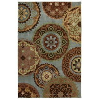 Jennifer Blue Medallion Rug (8 x 10)