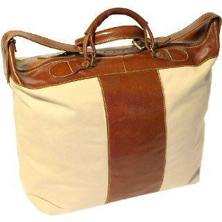 Floto Leather and Canvas Duffle tote bag luggage Sports
