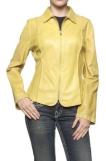 Cristiano di Thiene Leather Jacket ILARIA, Color: Yellow