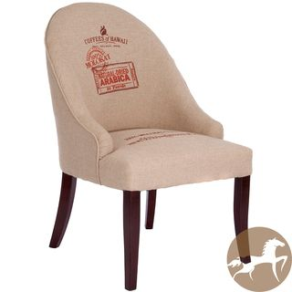 Christopher Knight Home Ricardo Coffee Print Fabric Accent Chair