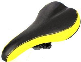 VELO Mountain Road Bike Bicycle Seat Saddle Black Yellow