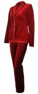 Sutton Studio Womens Velvet Pantsuit Clothing