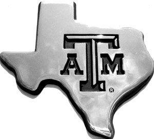 Texas A&M University Aggies Chrome Debossed Auto Emblem