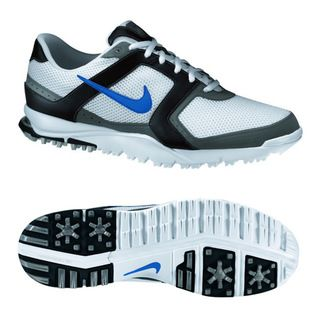 Nike Mens Air Range WP White/ Blue/ Black Golf Shoes