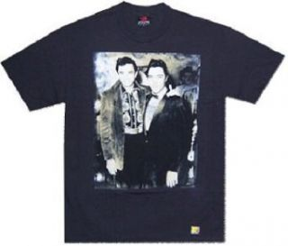 JOHNNY CASH and ELVIS PRESLEY   Picture   Black T shirt