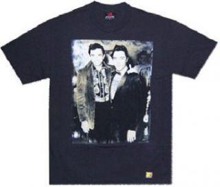 JOHNNY CASH and ELVIS PRESLEY   Picture   Black T shirt