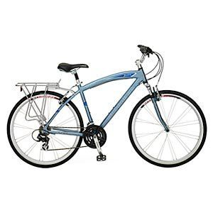 Schwinn Broadway Mens Hybrid Bike Blue Features Shimano