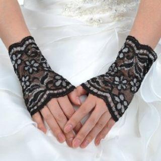 Artwedding Wrist Length Fingerless Lace Wedding Gloves