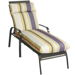 Gosi Stripe All weather Outdoor Dark Grey Lounge Chair Cushion