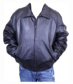 Dona Michi Mens Bomber Jacket Genuine Lamb Leather Black