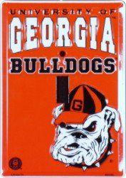 UGA Georgia Bulldogs Metal Light Switch Plate: Sports
