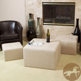 Christopher Knight Home Juniper Fabric Nested Ottomans (Set of 3