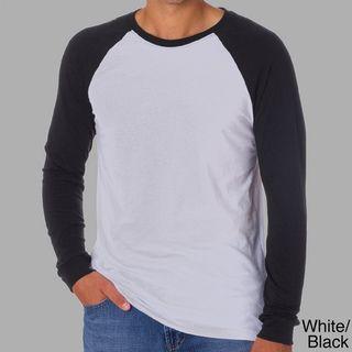 Canvas Mens Long Sleeve Baseball T shirt