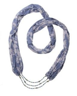 House Of Shakti Loving Truth Scarf Necklace   Blue   One