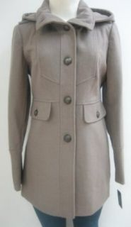 Guess Hooded Wool Coat, Jacket, Taupe, Small, Mw374