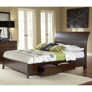 Wave Patterned Chocolate Brown 4 drawer Storage Bed Today $1,234.99