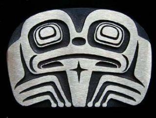 Tlingit Frog Bronze Totem Belt Buckle Clothing