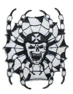 Spiderweb Skull Iron Cross Embroidered iron on Motorcycle