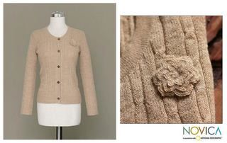 Alpaca Wool Beige Nature Sweater (Peru)