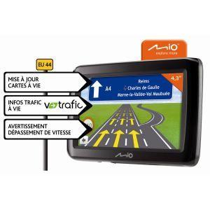 44 CAV   Achat / Vente GPS AUTONOME GPS Mio Spirit 495 Europe 44
