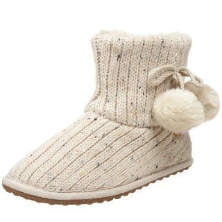 Rocket Dog Womens Snowflake Cable Knit Slipper,Natural,6 M US Shoes