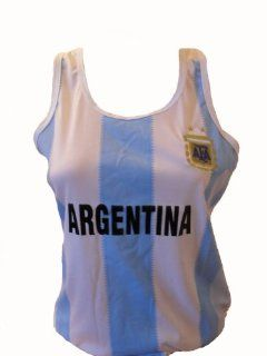 WOMEN ARGENTINA TANK TOP SOCCER JERSEY ONE SIZE LARGE