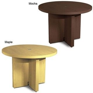 Mayline Aberdeen 42 inch Mocha Round Conference Table