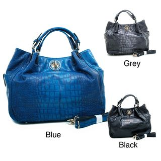 Anais Gvani Scrunched Croc embossed Tote Bag