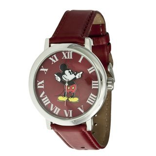 Disney Ingersoll Womens Red Mickey Mouse Watch