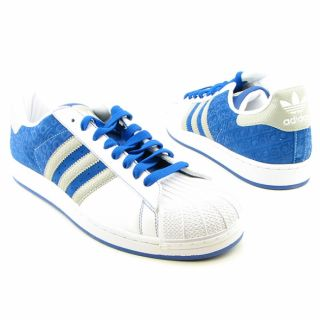 Mens Superstar II BSC White/Blue Sneakers (Size 13)