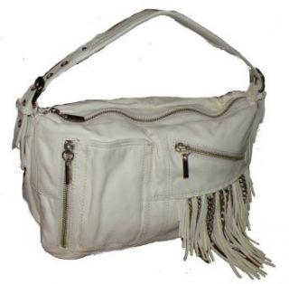 Junior Drake Kirrin White Leather Fringe Bag Clothing