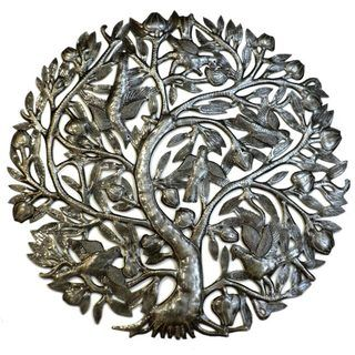 Tree of Life 24 inch with Buds Haitian Wall Art (Haiti)