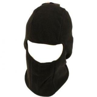 Winter 1 hole Fleece Ski Beanie Skull & Face Mask Black