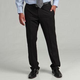 Kenneth Cole Reaction Mens Slim fit Black Stripe Flat front Suit