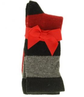 Charter Club A Touch of Cashmere Striped Socks Black