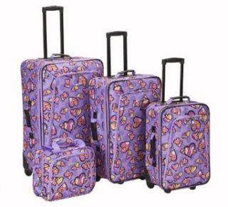 Rockland Luggage Garden 4 Piece Luggage Set, Love, One
