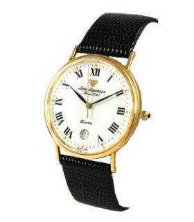 Jules Jurgensen Mens Solid Gold 14k Gold Watch