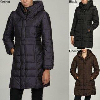 MICHAEL Michael Kors Womens Exposed Zipper Coat