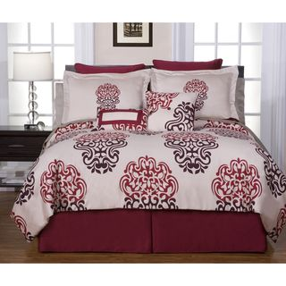 Cherry Blossom 12 piece Full size Bed in a Bag with Sheet Set