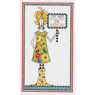 Dolly Mamas Im Undertall Counted Cross Stitch Kit 6X10 14 Count