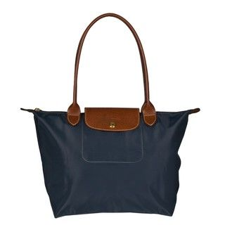 Longchamp Le Pliage Graphite Nylon Tote Bag