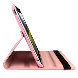 Pink 360 degree Leather Swivel Case for Apple iPad 2