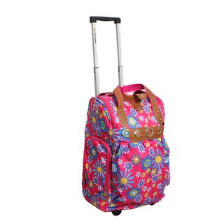 Runway Ladys Lightweight Sunflower Carry on Rolling Luggage Bag